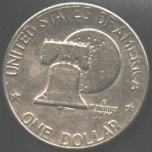 Silver dollar commemorating The Bicenntenial of Independence.