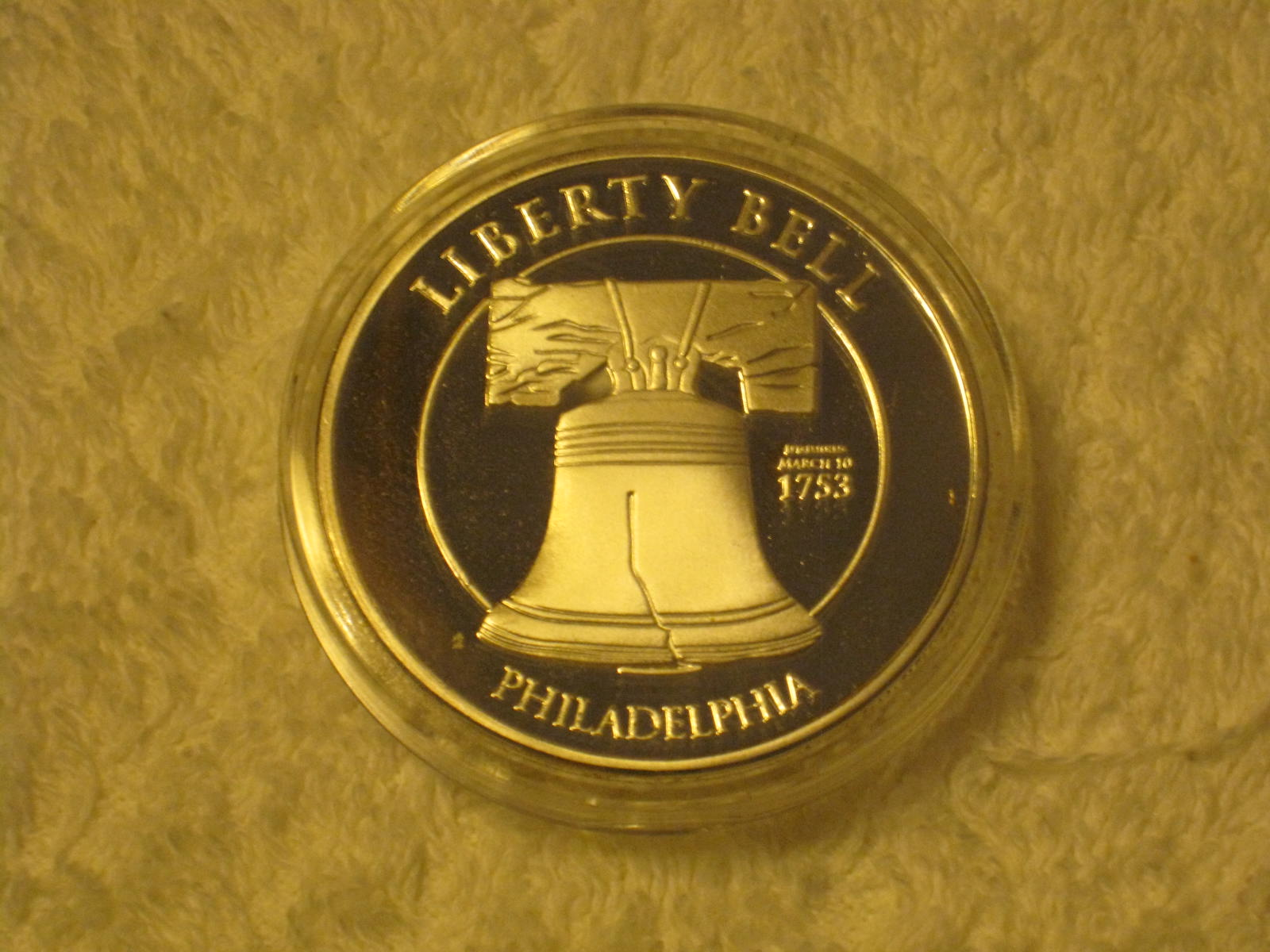 LIBERTY BELL INDEPENDENCE HALL SILVER COIN 1753