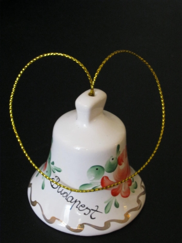 A smal clay painted bell, gift of my friends Christine and Lucian, May 2012