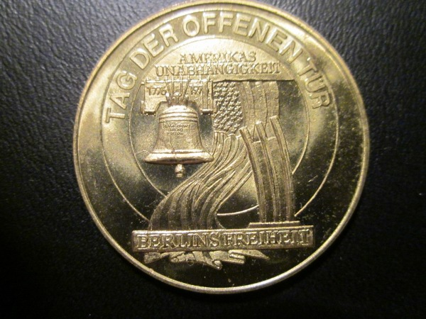 German coin dedicated to the US Bicentennial.